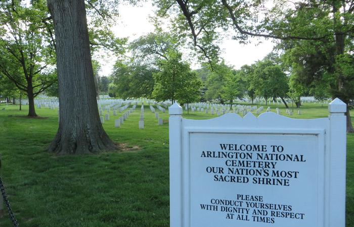Entrada al Cementerio Nacional de Arlington Washington