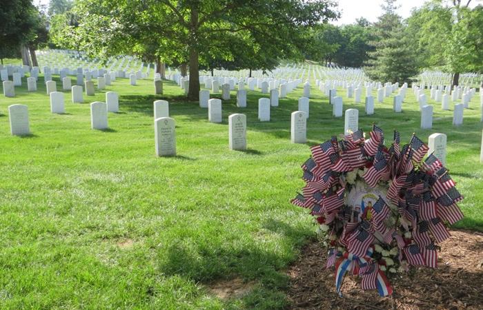 Vista del Cementerio Nacional de Arlington Washington