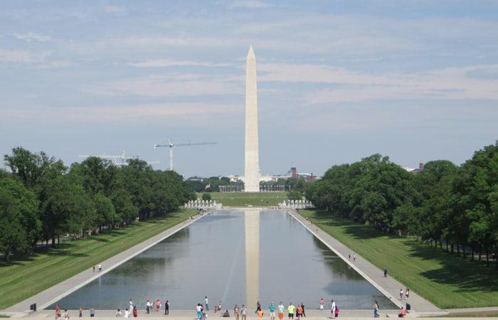 Reflecting Pool y Gran obelisco del Monumento a Washington