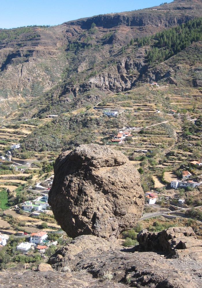 Vista desde el sendero de subida al Roque Nublo