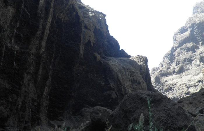Vista del barranco de Masca