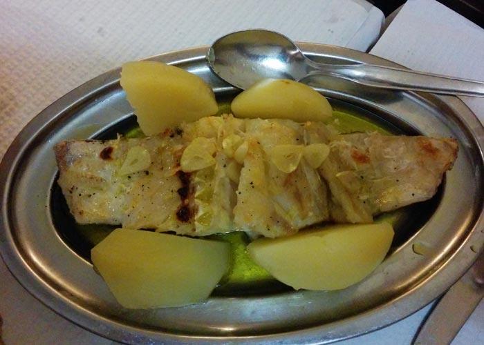 Bacalao asado de Floresta de Santana comer en Lisboa
