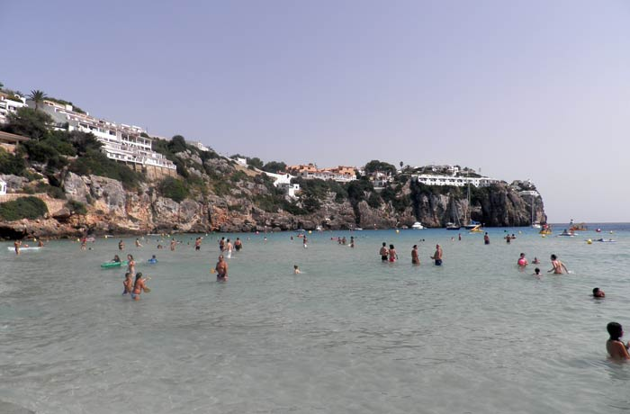 Vista de Cala en Porter mejores calas de Menorca