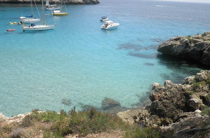 Vista de Cala Trebalúger mejores calas de Menorca