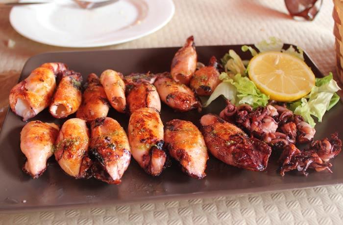Comer en asturias viaje con pablo - Chipiron a la plancha ...