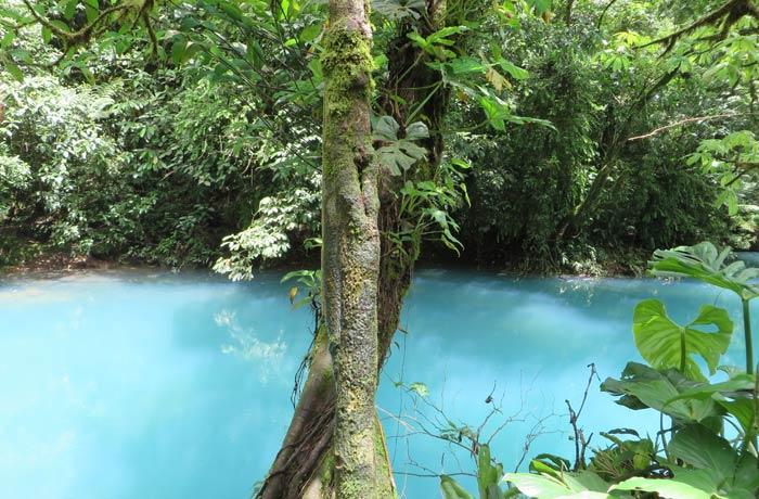 Otra vista de la laguna azul Río Celeste