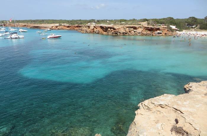 Vista de Cala Saona Playas de Formentera