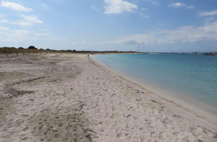 Tranquilidad total en S'Alga Playas de Formentera