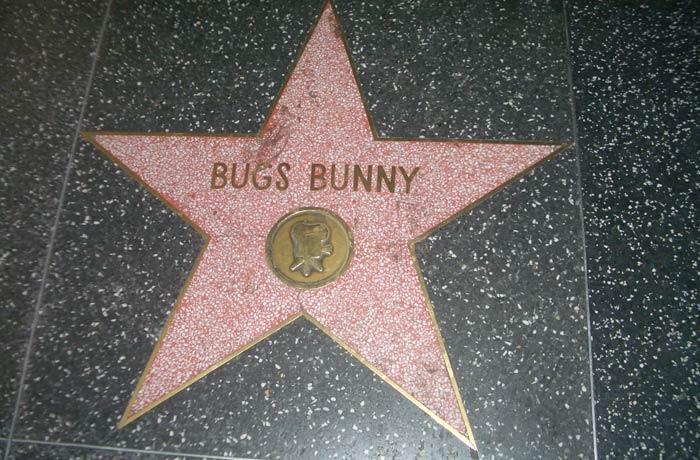 Estrella de Bugs Bunny Paseo de la Fama de Hollywood