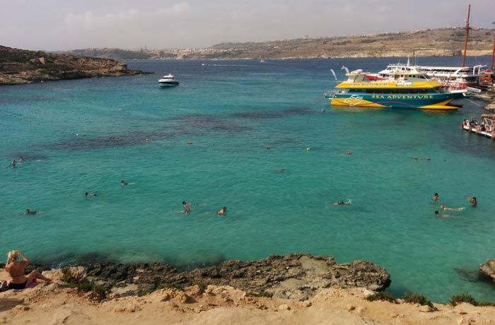 Blue Lagoon en Comino Malta en cuatro días