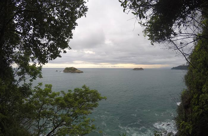 Uno de los miradores del sendero Punta Catedral Parque Nacional Manuel Antonio