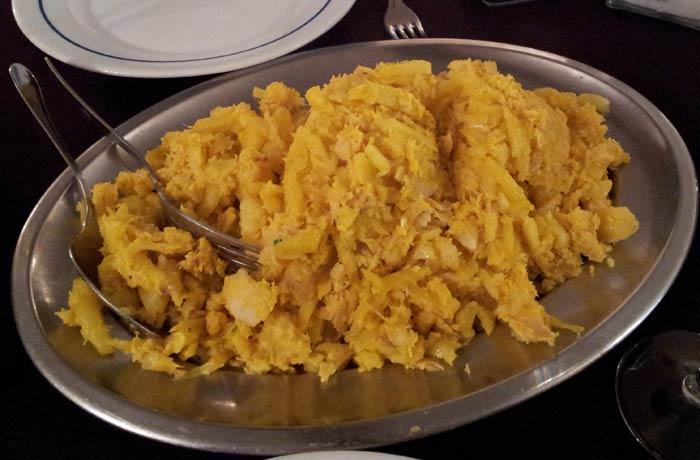 Bacalao a brás del restaurante O Fontela comer en Monfortinho