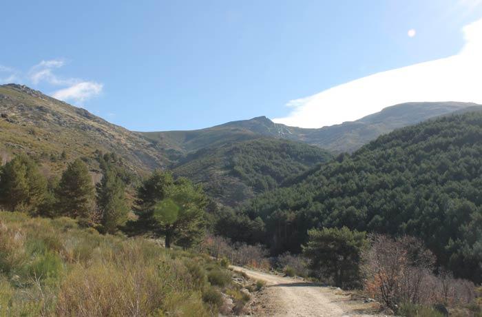 Cumbres de las sierras de Béjar y Candelario desde la ruta