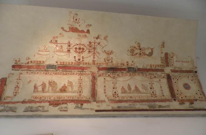 Decoraciones pintadas en el Museo Palatino Coliseo y Foro Romano
