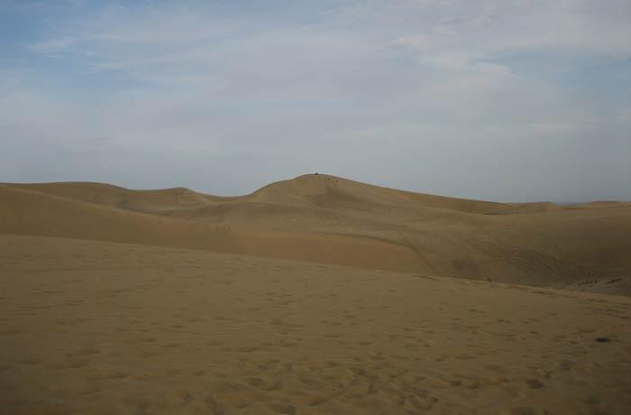 Paisaje del desierto de las Dunas de Maspalomas
