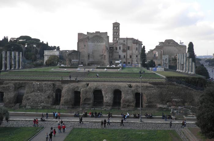 Vista del Foro desde el Coliseo