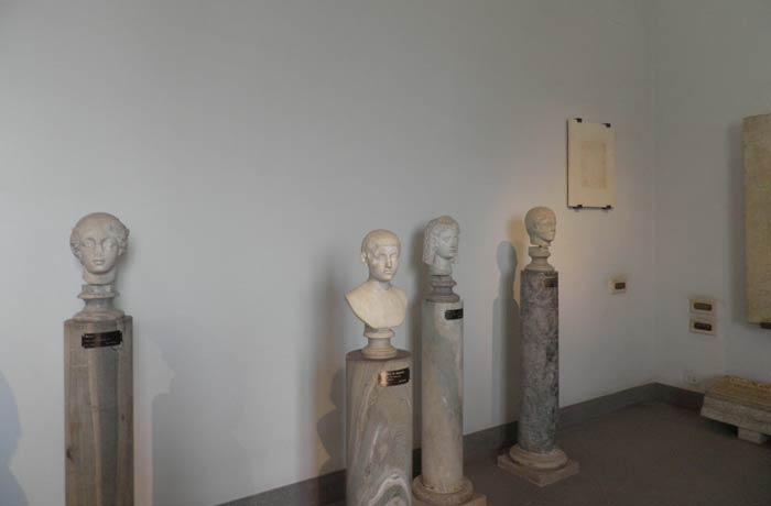 Algunas piezas del Museo Palatino Coliseo y Foro Romano