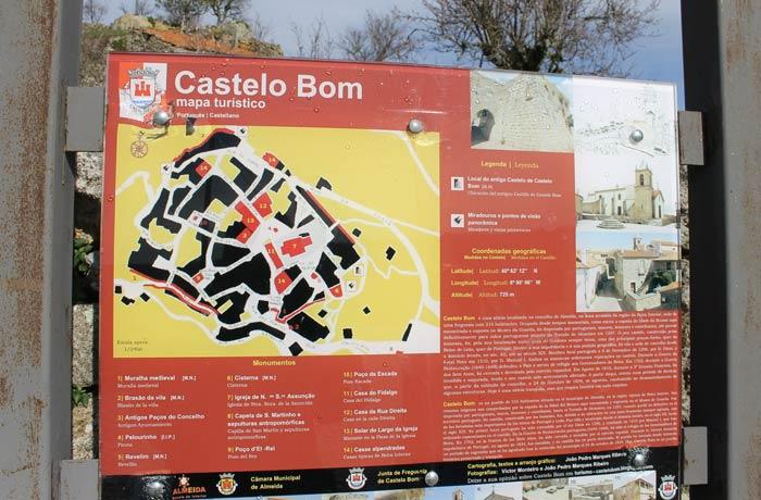 Mapa turístico de Castelo Bom