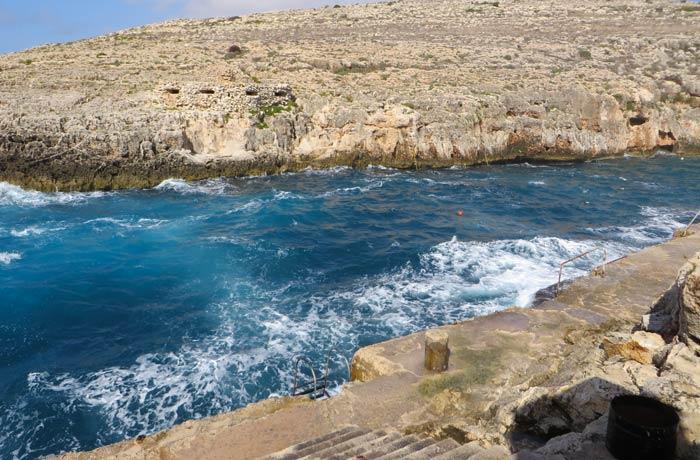 Piscina natural de Wied iz-Zurrieq Gruta Azul Malta