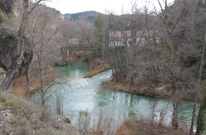 Río Júcar antes de la presa de Las Grajas