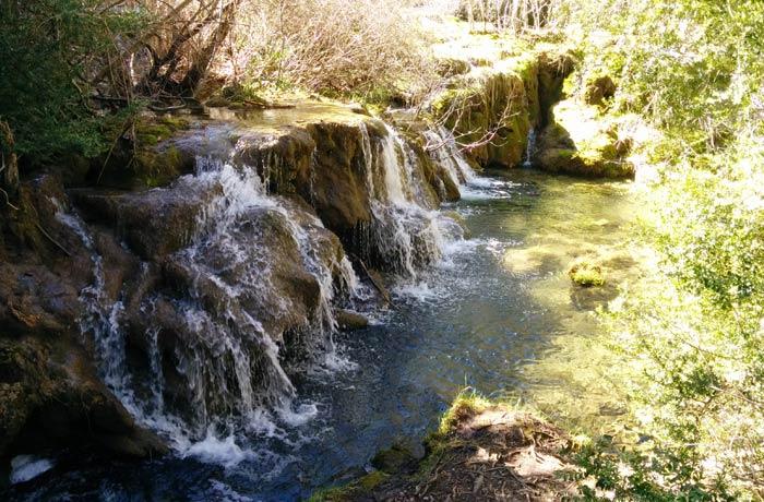 Una de las imágenes que se aprecia en la ruta circular del nacimiento del río Cuervo