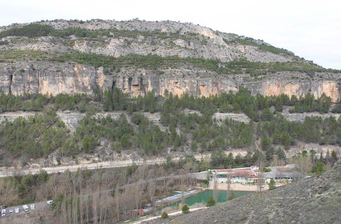Vista del barranco por el sendero de regreso ruta de la Hoz del Júcar