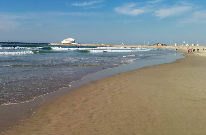 Otra perspectiva de la playa de Matosinhos Oporto
