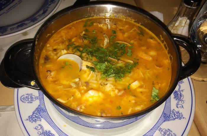 Arroz con pulpo del restaurante O Antonio comer en el Algarve