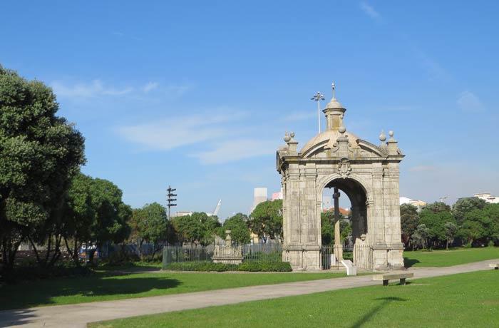 Jardín do Senhor do Padrao playa de Matosinhos Oporto