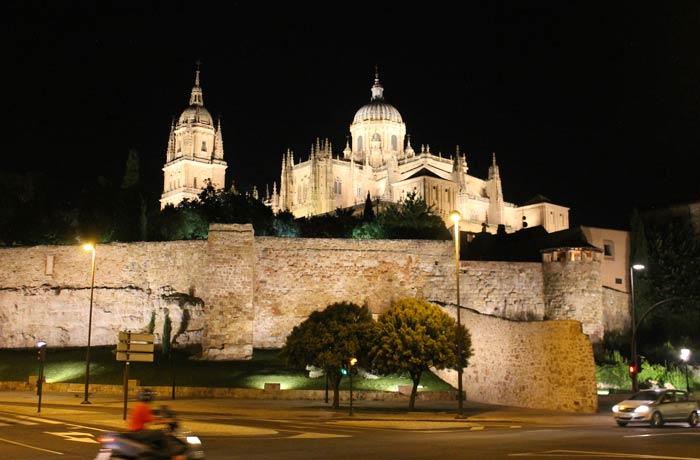 Muralla y Catedral de Salamanca desde el paseo del Rector Esperabé vistas de Salamanca