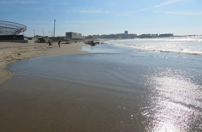 Vista de la playa de Matosinhos Oporto