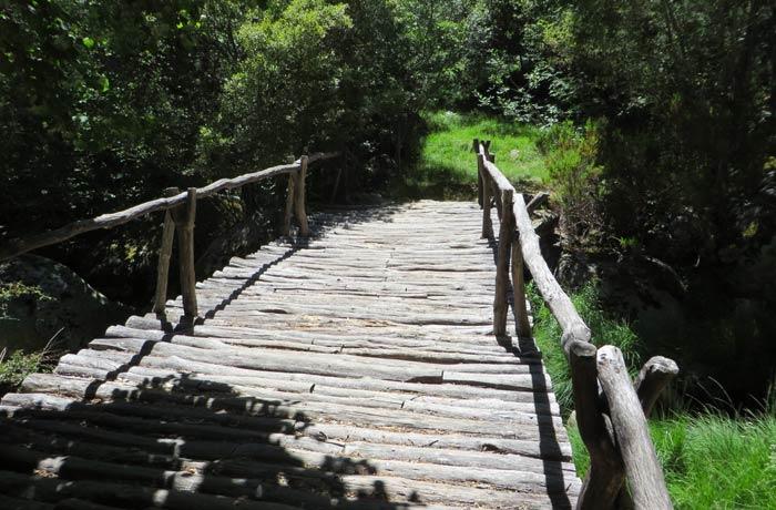 Puente sobre el río Truchas en el tramo de regreso Cascada de Sotillo