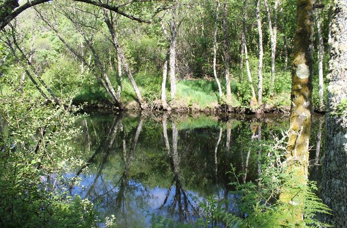 Ribera del río Coa ruta en Sabugal