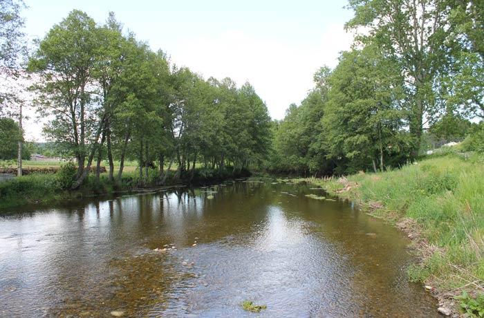 El río Coa visto desde el muelle que lo atraviesa y que significa el inicio de la ruta en Sabugal