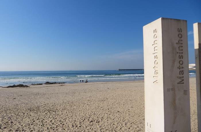 Panorámica de la playa de Matosinhos Oporto