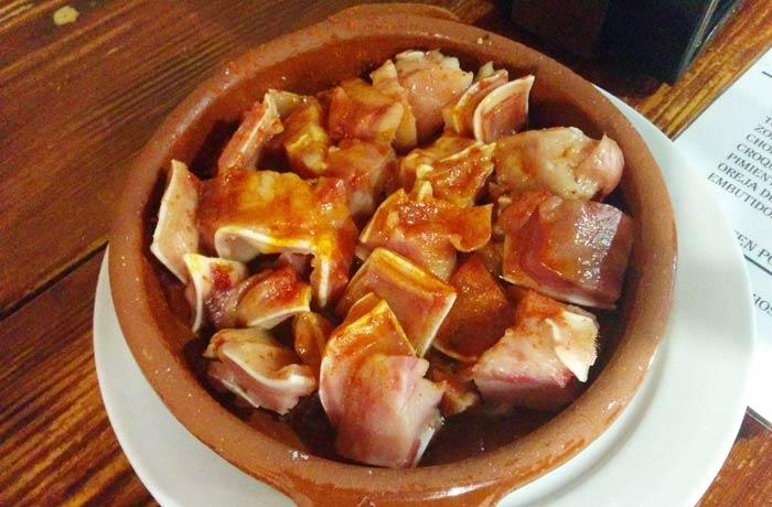 Oreja de cerdo de O Refuxio D'Anton comer en Baiona